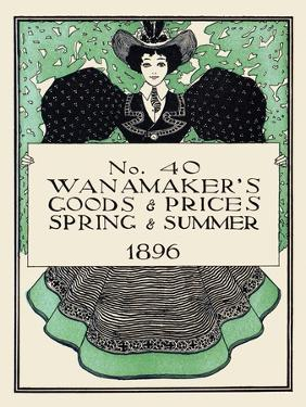 Wanamaker's Goods and Prices, Spring and Summer 1896 by Maxfield Parrish