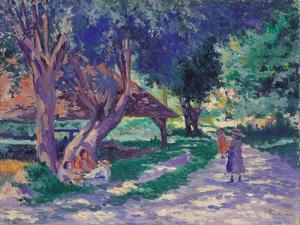 Bessy, Yonne, the Shaded Path by Maximilien Luce