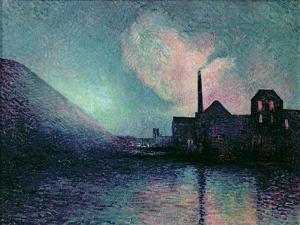 Couillet by Night, 1896 by Maximilien Luce