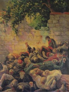 Execution of the Communards at the 'Mur Des Federes' by Maximilien Luce