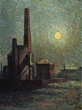 Factory by Moonlight by Maximilien Luce