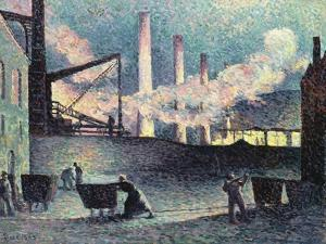 Factory Chimneys at Couillet, 1903 by Maximilien Luce