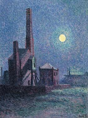 Factory in the Moonlight by Maximilien Luce