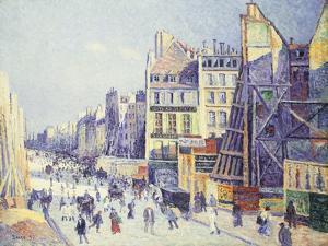 La Rue Reaumur, 1897 by Maximilien Luce