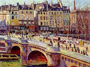 Le Quai Conti, Paris, 1896 by Maximilien Luce