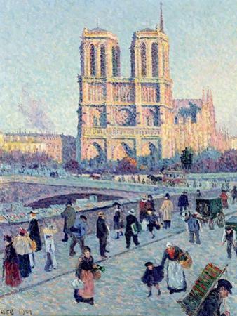 Le Quai St. Michel and Notre Dame, 1901 by Maximilien Luce