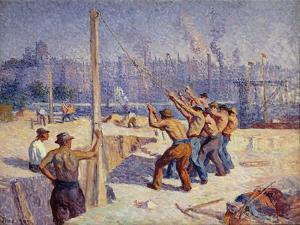 Les Batteurs De Pieux, 1900 by Maximilien Luce