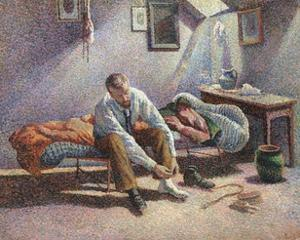 Morning, Interior by Maximilien Luce