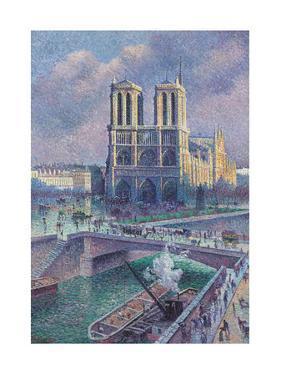 Notre-Dame De Paris, 1900 by Maximilien Luce
