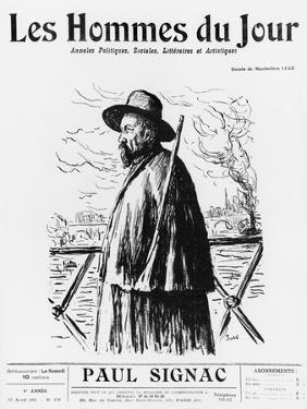 Paul Signac, Front Cover Illustration from 'Les Hommes Du Jour', No 170, Paris, 22nd April 1911 by Maximilien Luce