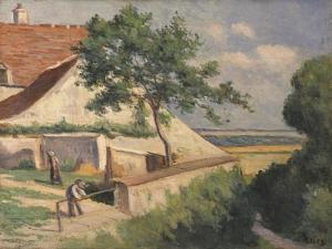 Rolleboise, Behind the Church (La Maison Luce), C.1920 by Maximilien Luce