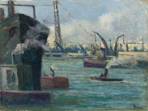 Rouen Port by Maximilien Luce