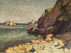 Sea and Rocks, Agay, 1893 by Maximilien Luce