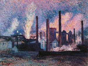 Steelworks near Charleroi by Maximilien Luce