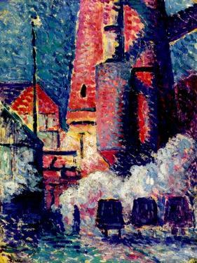 Tall Furnaces, 1896 by Maximilien Luce