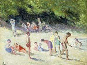 The Bathers of Mericourt; La Baignade a Mericourt, 1935 by Maximilien Luce