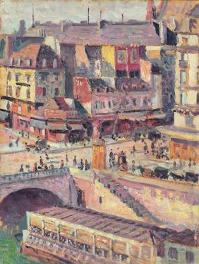 The Pont Saint-Michel and the Quai Des Orfevres, Paris, C.1900-03 by Maximilien Luce
