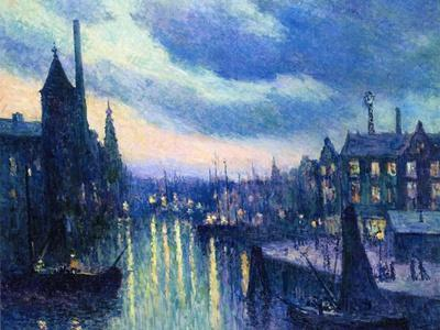The Port of Rotterdam at Night, 1908