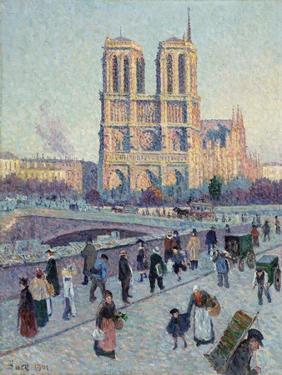 The Quai Saint-Michel and Notre-Dame by Maximilien Luce by Maximilien Luce