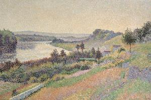 The Seine at Herblay, 1890 by Maximilien Luce