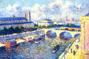 The Seine, Paris, 1892 by Maximilien Luce