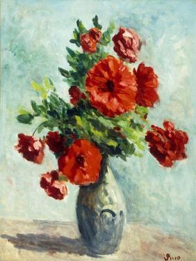 Vase of Flowers; Vase De Fleurs, 1925-1930 by Maximilien Luce