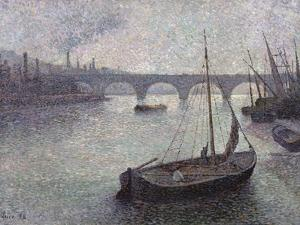 View of the Thames, 1893 by Maximilien Luce