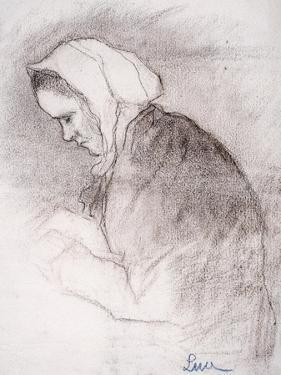 Woman with Bowed Head by Maximilien Luce
