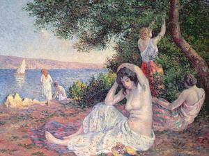 Women Bathing by Maximilien Luce