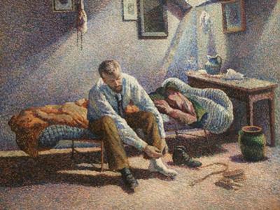 Morning Interior by Maximillian Luce