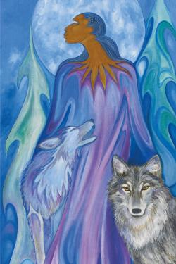 Wolf Guardian by Maxine Noel