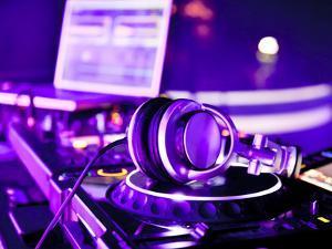 Dj Mixer With Headphones by maxoidos