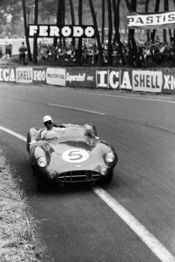 Aston Martin DBR1 in Action, Le Mans 24 Hours, France, 1959 by Maxwell Boyd