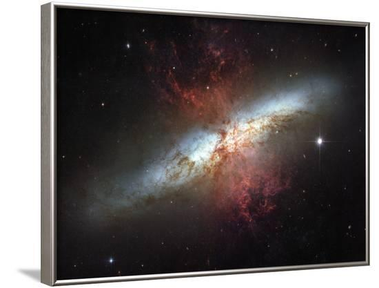 May 2006, Image of the Magnificent Starburst Galaxy, Messier 82 (M82)-Stocktrek Images-Framed Photographic Print