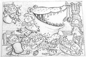 Crocodile's Lunch by Maylee Christie