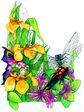 Fairy, Dragonfly and Beetle by Maylee Christie
