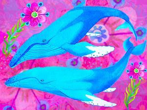 Whales in Love, 2017 by Maylee Christie