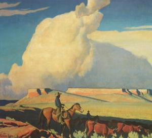 Open Range, 1942 by Maynard Dixon