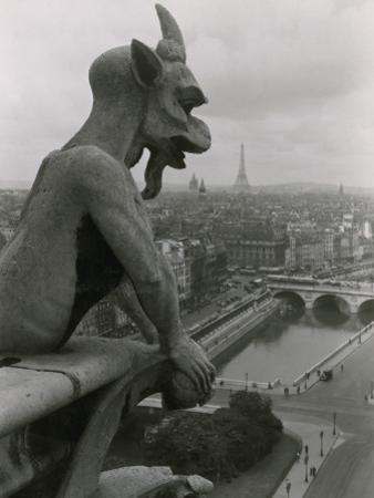 A Gargoyle Looking over the City of Paris by Maynard Owen Williams