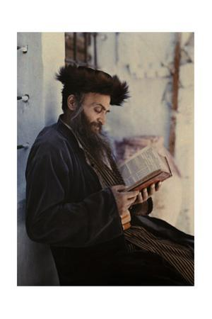 A Hungarian Jew with a Fur-Brimmed Cap Reads a Book by Maynard Owen Williams