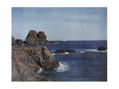 A View of the Cliffs in the Midland Sea from the Agay Provence by Maynard Owen Williams