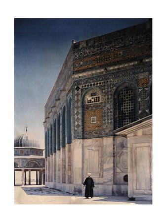 A View of the Dome of the Chain and the Dome of the Rock in Jerusalem by Maynard Owen Williams