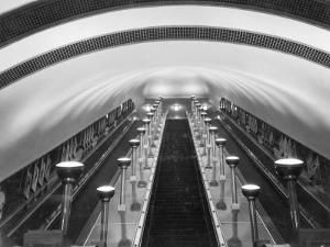 Escalators in a Tube Station by Maynard Owen Williams