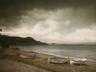 Rowboats Along a French Beach by Maynard Owen Williams