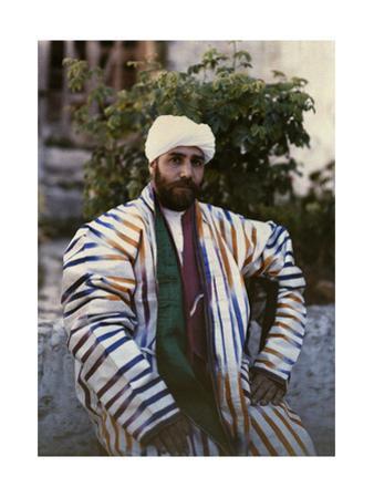 Sheik Jacob Boukhari Poses for a Photograph in Jerusalem by Maynard Owen Williams