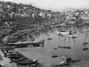 View of One of the Three Ancient Harbors of Piraeus by Maynard Owen Williams