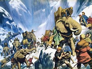 Hannibal Crossing the Alps by Mcbride