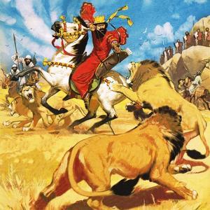 King Darius of Persia Hunting Lions by Mcbride