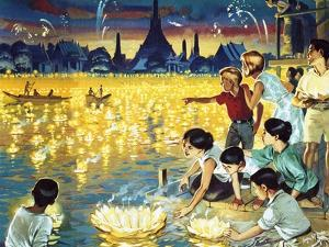 Loy Krathong Festival in Bangkok by Mcbride
