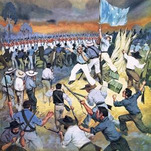The Defence of the Eureka Stockade by Mcbride